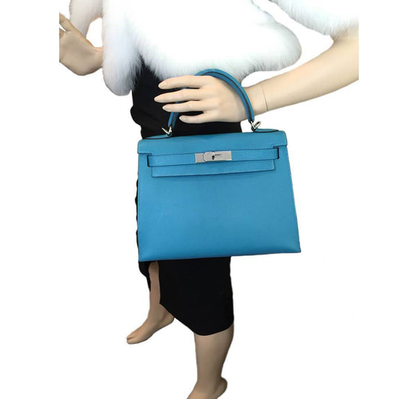 Hermes Kelly Sellier 28 Turquoise Used Overview