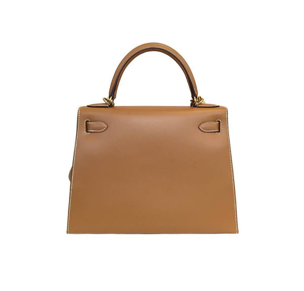 Hermes Kelly Sellier Gold Used Back