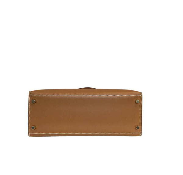 Hermes Kelly Sellier Gold Used Bottom