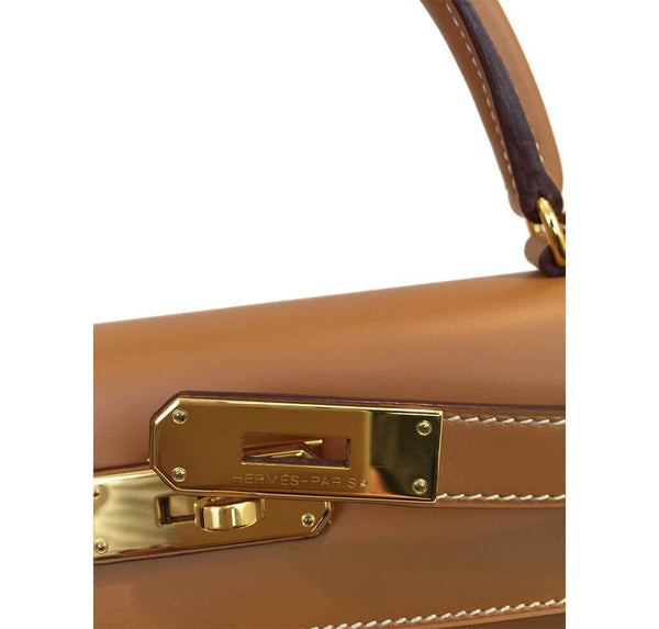 Hermes Kelly Sellier Gold Used Engraving