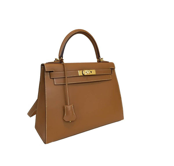 Hermes Kelly Sellier Gold Used Side