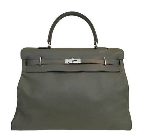 Hermes Kelly 50cm Travel Bag Green