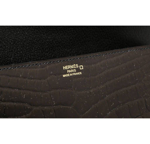 Hermes Medor Clutch 23 Alligator Black New Embossing