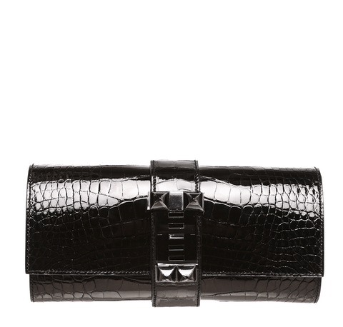 Hermes Medor Clutch Black Alligator Bag