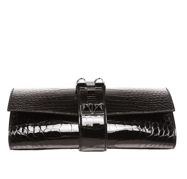 Hermes Medor Clutch 23 Alligator Black New Bottom