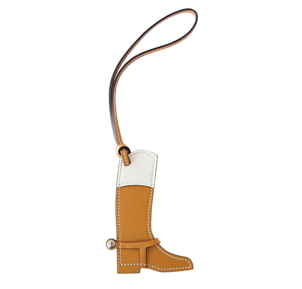 Hermes Paddock Equestrian Boot Charm Sable