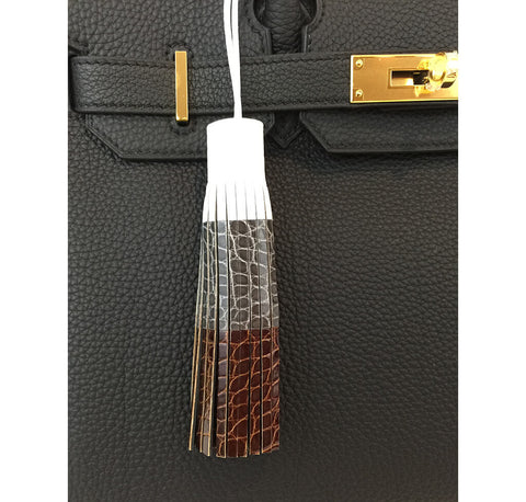 Hermes Limited Edition Tassel Charm Crocodile