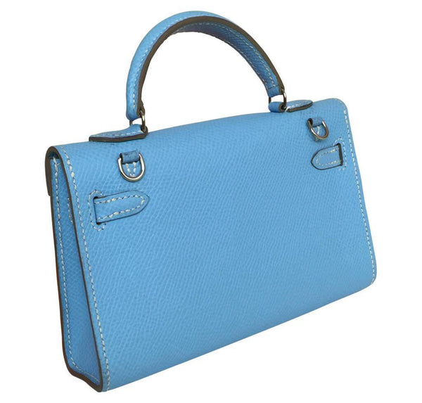 hermes tiny kelly blue paradise used back
