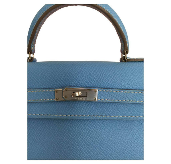 hermes tiny kelly blue paradise used detail