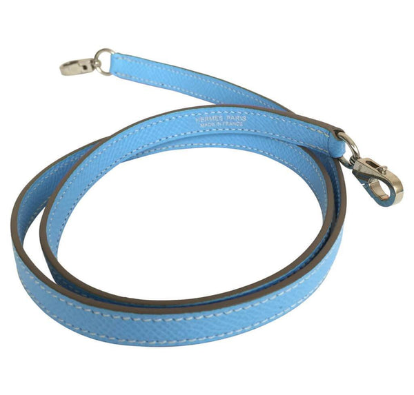 hermes tiny kelly blue paradise used strap