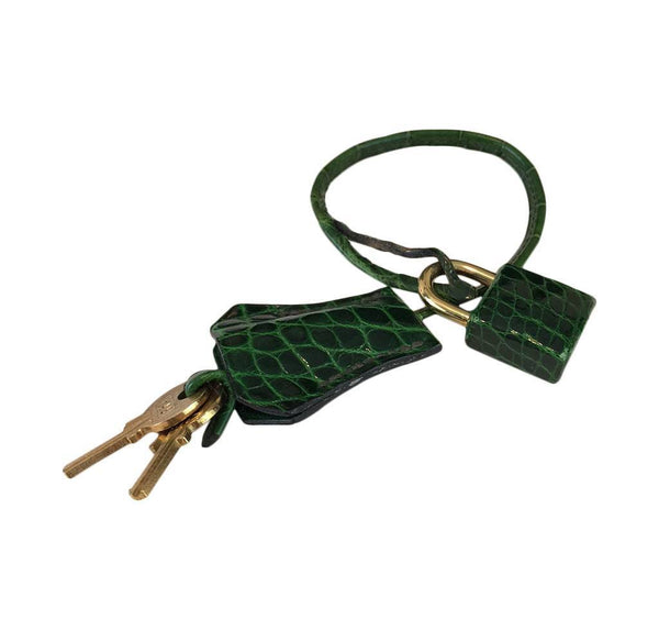 hermes kelly sellier 35 vert emerald used lock keys