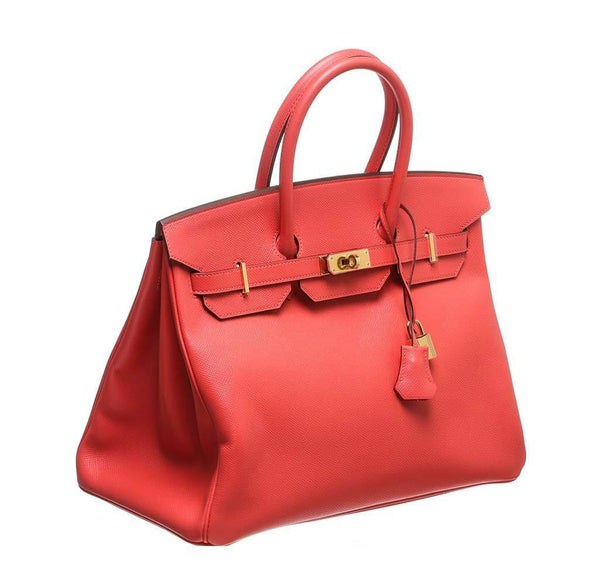 hermes birkin 35 rouge pivoine new front side
