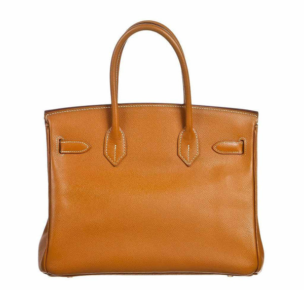 hermes birkin 30 gold used back