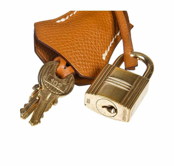 hermes birkin 30 gold used lock keys