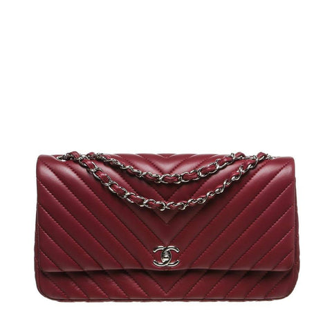 Chanel Burgundy Jumbo Classic Flap Bag