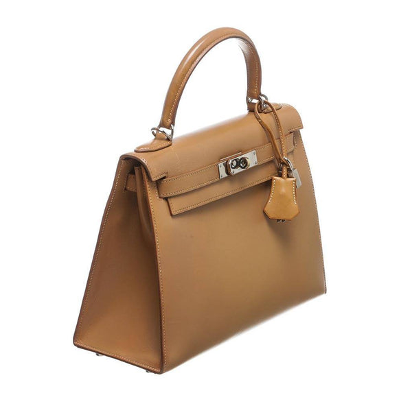hermes kelly 32 gold used side