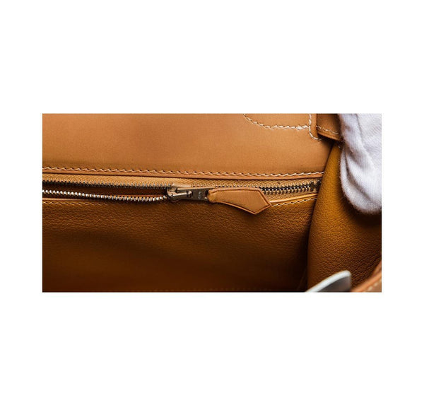 hermes kelly 32 gold used zipper