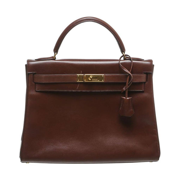 Hermes Kelly 32 Brown Bag