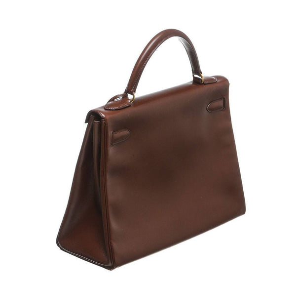 hermes kelly 32 brown used back side