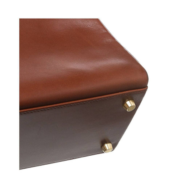 hermes kelly 32 brown used corner