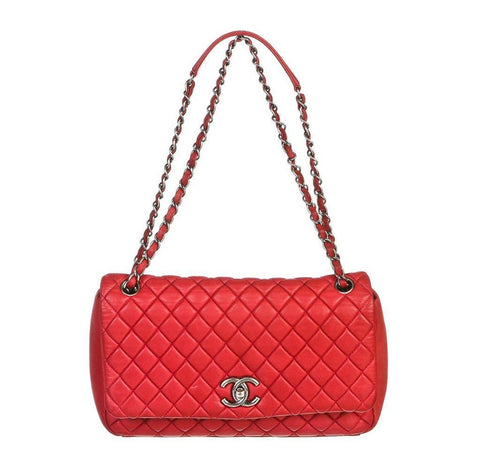 Chanel Hot Pink Flap Bag Calfskin