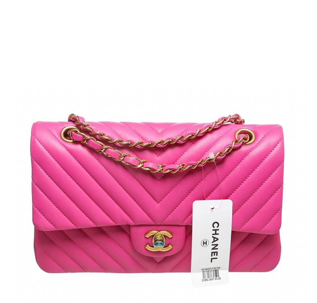 d903d8c89b6 Chanel Hot Pink Classic 2.55 Bag - Chevron Lambskin