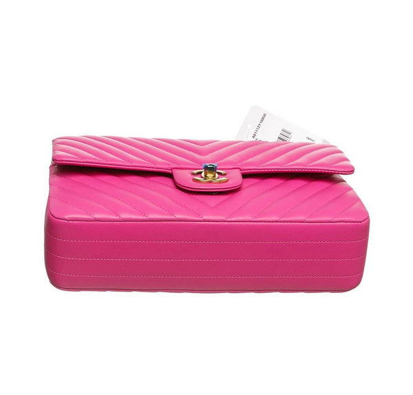 chanel classic 2.55 bag hot pink new bottom