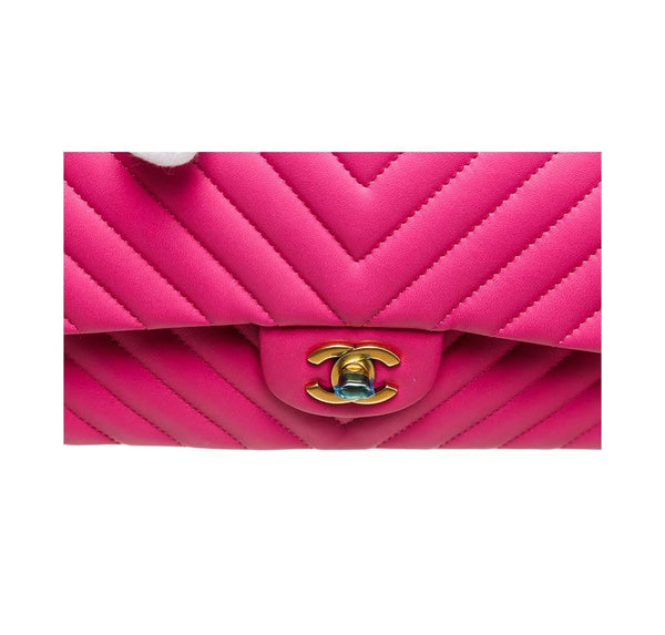chanel classic 2.55 bag hot pink new logo