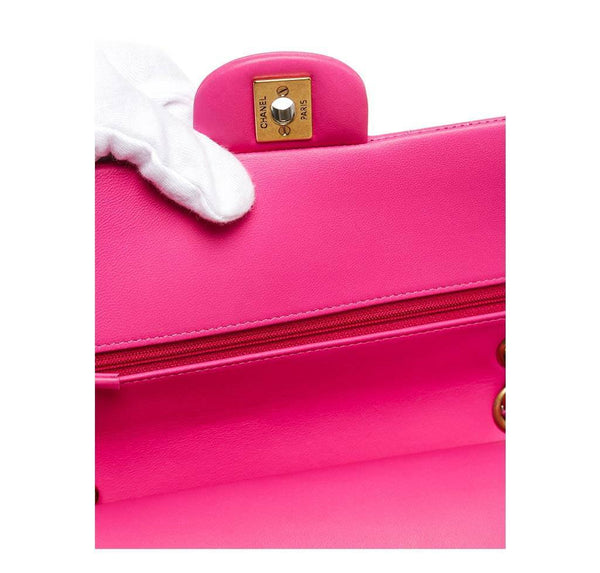 chanel classic 2.55 bag hot pink new detail