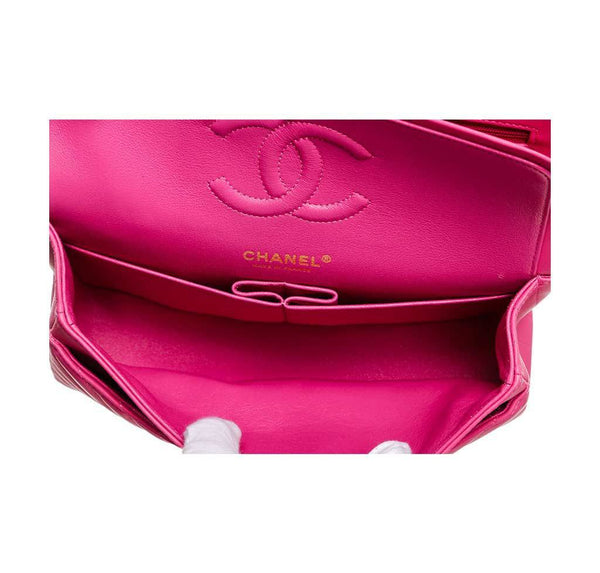 chanel classic 2.55 bag hot pink new inside