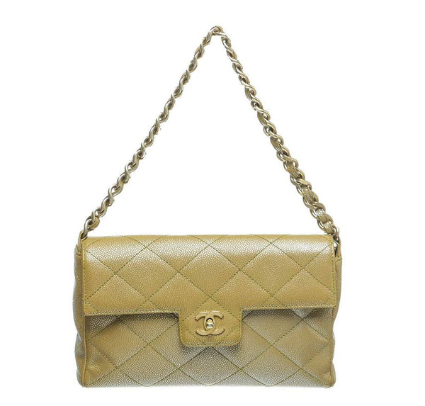 Chanel Gold Flap Shoulder Bag Caviar