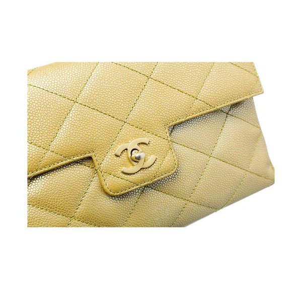 chanel flap shoulder bag gold used detail