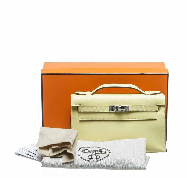 hermes kelly pochette mini soufre new complete