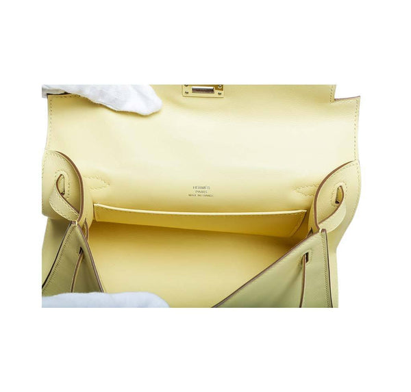 hermes kelly pochette mini soufre new embossing