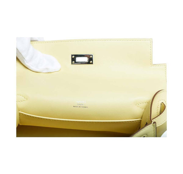 hermes kelly pochette mini soufre new engraving