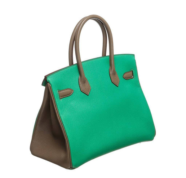 hermes birkin 30 green gray new back side