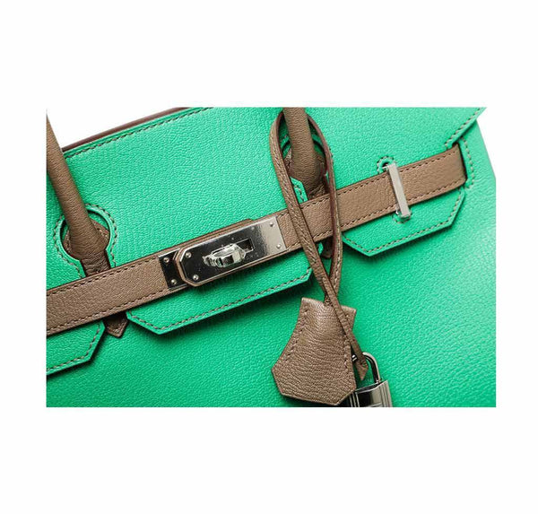 hermes birkin 30 green gray new engraving