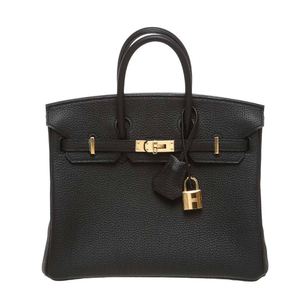 Hermès Birkin 25 Black - Togo Leather GHW  50bba07532218