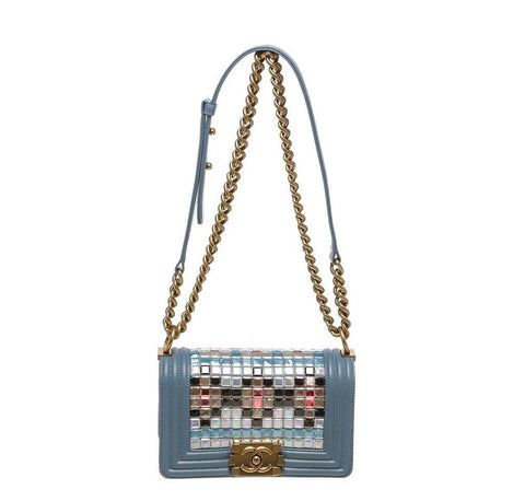 Chanel Boy Bag Mosaic Blue