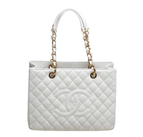 Chanel White Grand Shopper Tote Bag