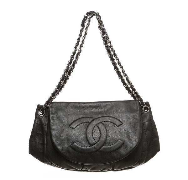 Chanel Black Half Moon Shoulder Bag