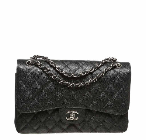 Chanel Black Jumbo 2.55 Bag Caviar