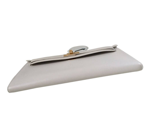 Hermes Kelly Cut Longue Pochette Clutch White New bottom