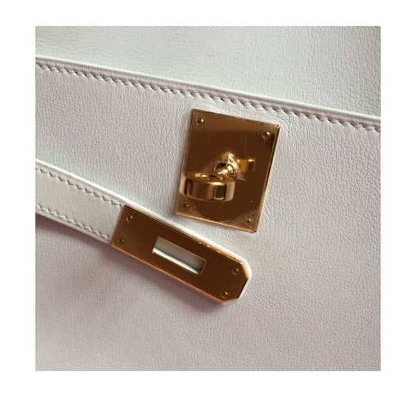 Hermes Kelly Cut Longue Pochette Clutch White New engraving