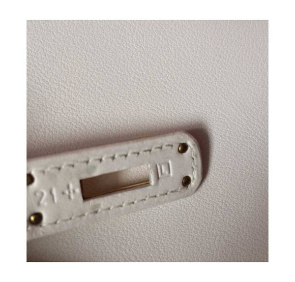Hermes Kelly Cut Longue Pochette Clutch White New stamp