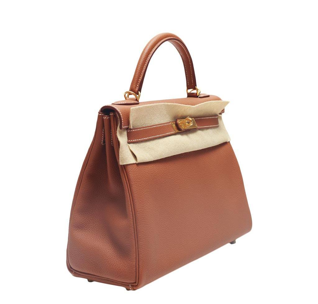 29734b99c22f Hermès Kelly Retourne 32 Gold - Togo Leather GHW