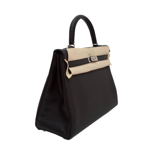 hermes kelly retourne 35 black plomb new side