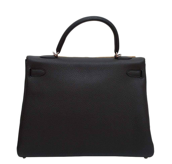 hermes kelly retourne 35 black plomb new back