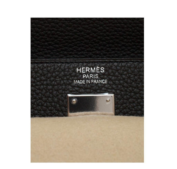 hermes kelly retourne 35 black plomb new embossing