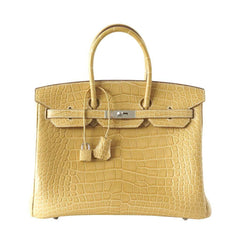 Hermes Birkin 35 Alligator Mais Bag